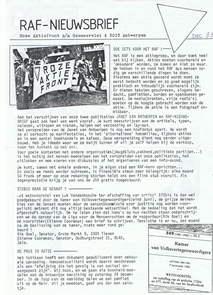 1983_RAF Nieuwsbrief_eerste nummer